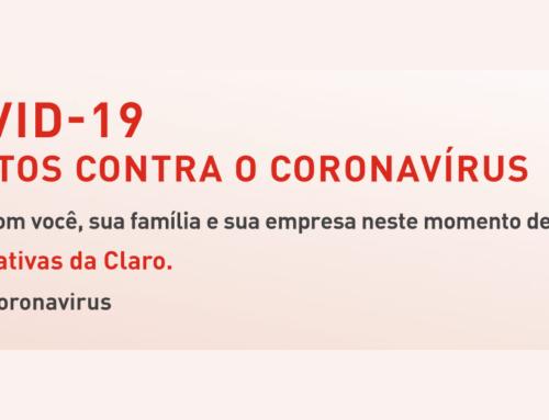 Coronavírus | Claro oferecerá mais Internet na banda larga e em planos móveis